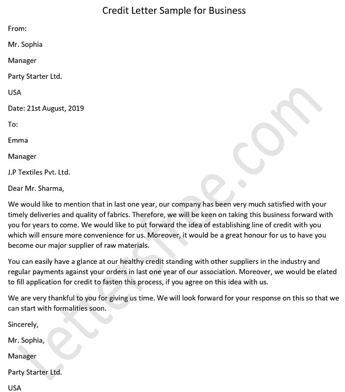 Credit Approval Letter Sample from www.lettersfree.com