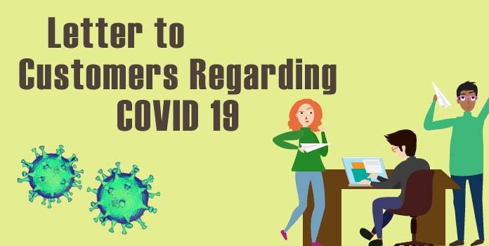 COVID-19 Letter to Customers, Coronavirus Letter Format
