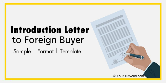 Introduction Letter to Foreign Buyer Sample Format, Template