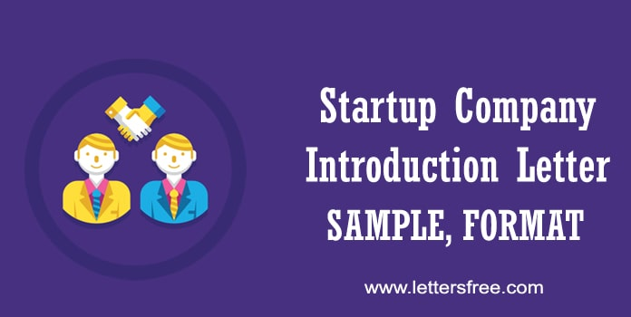 Startup Company Introduction Letter Sample, Business Format