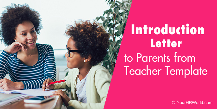Introduction Letter to Parents from Teacher Template