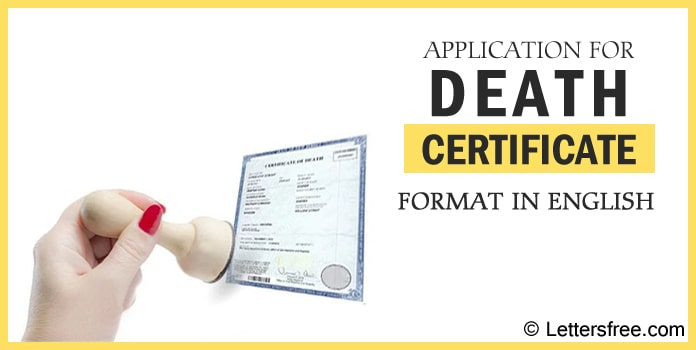 Application for Death Certificate Format