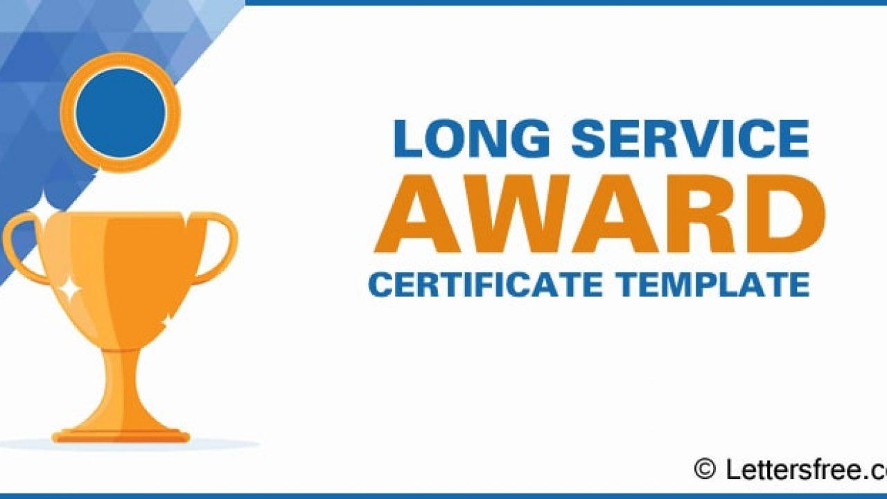Long Service Award Certificate Template, Sample Format For Long Service Certificate Template Sample