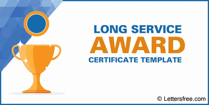 Long Service Award Certificate Template, Sample Certificate Format