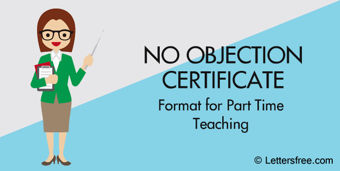 No Objection Certificate (NOC) Letter Format for Part-Time Teaching