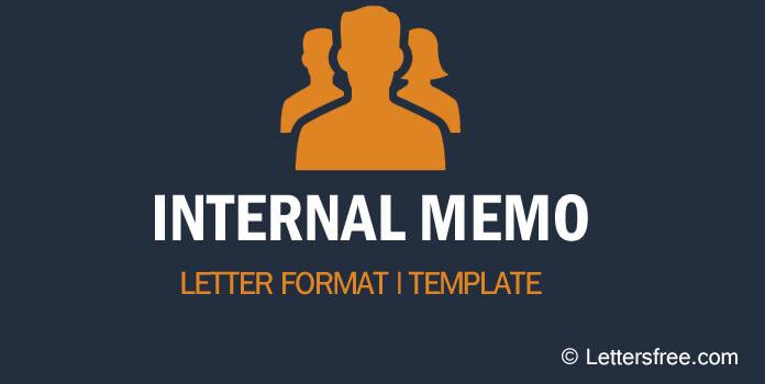 Internal Memo Letter Sample Format Template